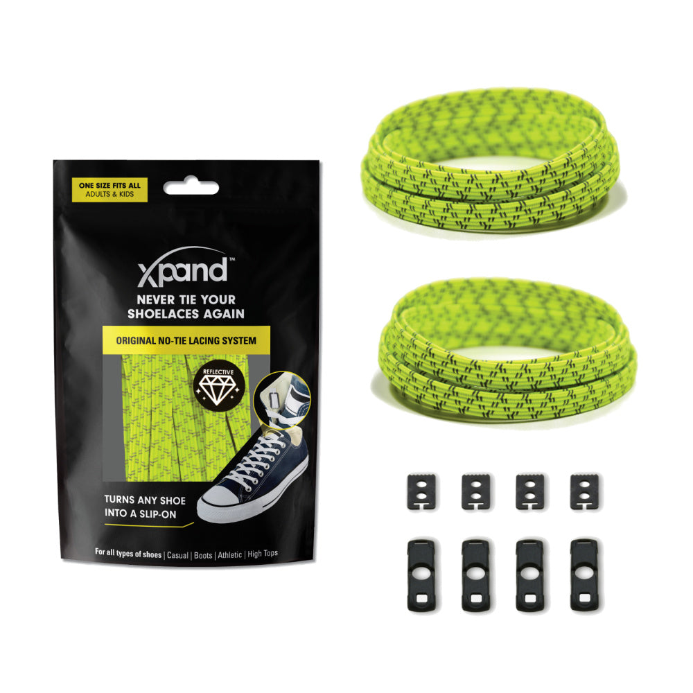 XPAND | LEMON LIME REFLECTIVE FLAT LACES