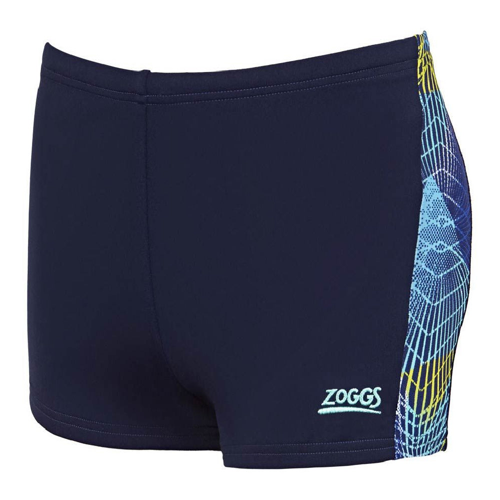 ZOGGS | BOYS SPIRO PANELLED HIP RACER (NAVY/MULTI)