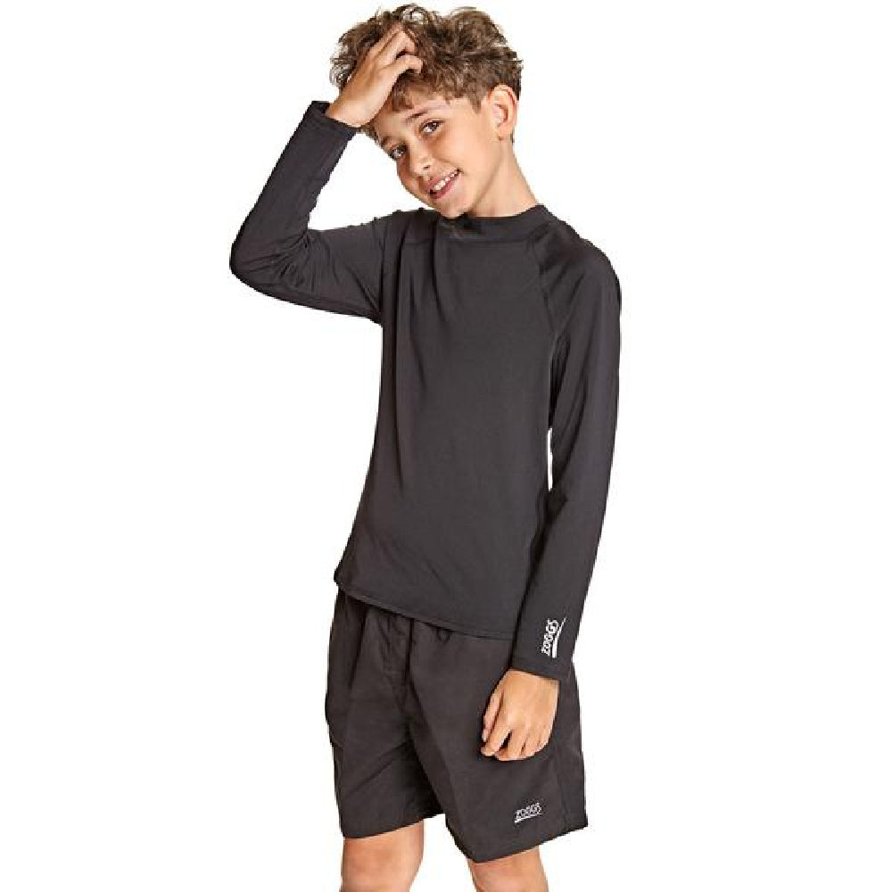 ZOGGS | JUNIOR UNISEX BELLS LONG SLEEVE SUN TOP BLACK