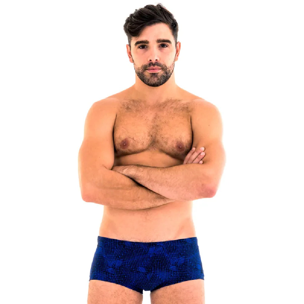 ZOGGS | MENS MATRIX TRUNK BLUE BLACK