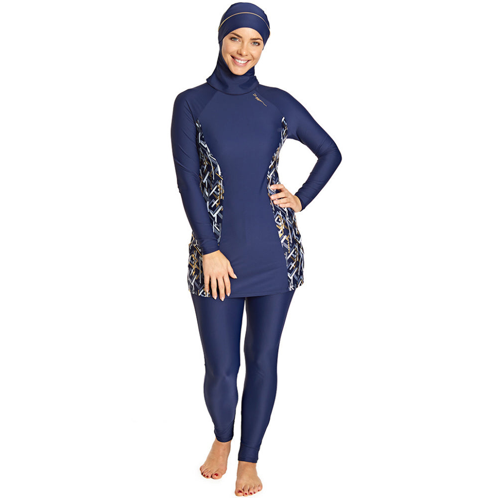 ZOGGS | WOMENS METALLIX MODESTY SUIT NAVY