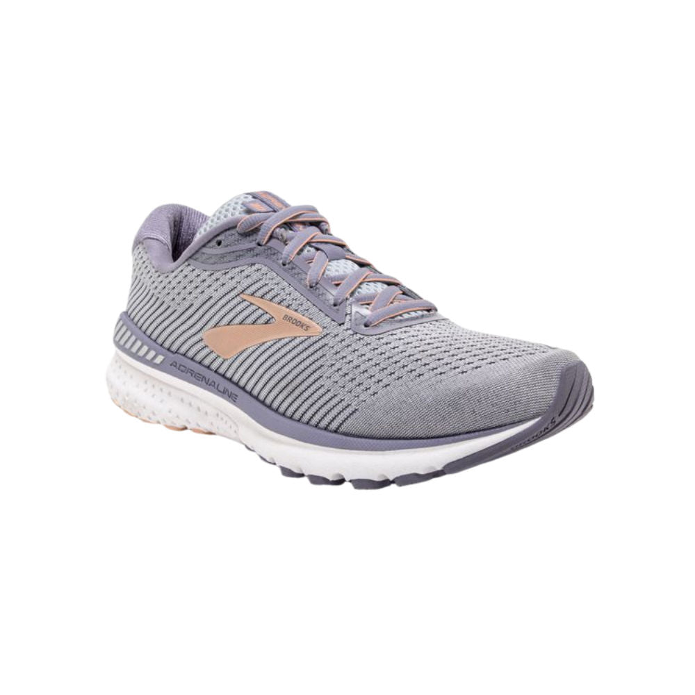 BROOKS | WOMENS ADRENALINE GTS 20 D-WIDE (GREY/WHITE)