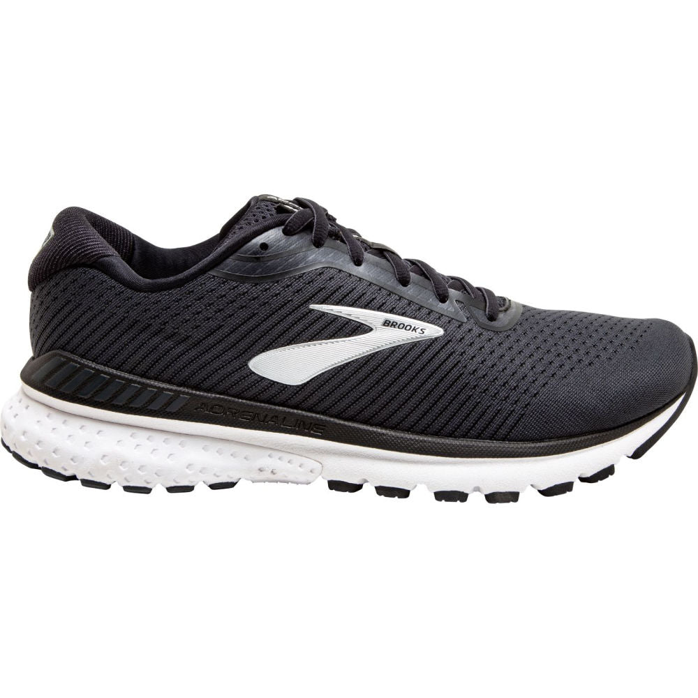 BROOKS | MENS ADRENALINE GTS 20 2E BLACK WHITE