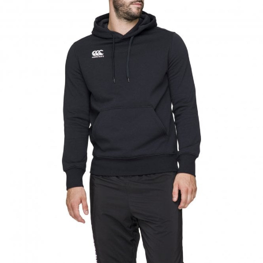 CANTERBURY | MENS O/H LOGO HOODY AM BLACK