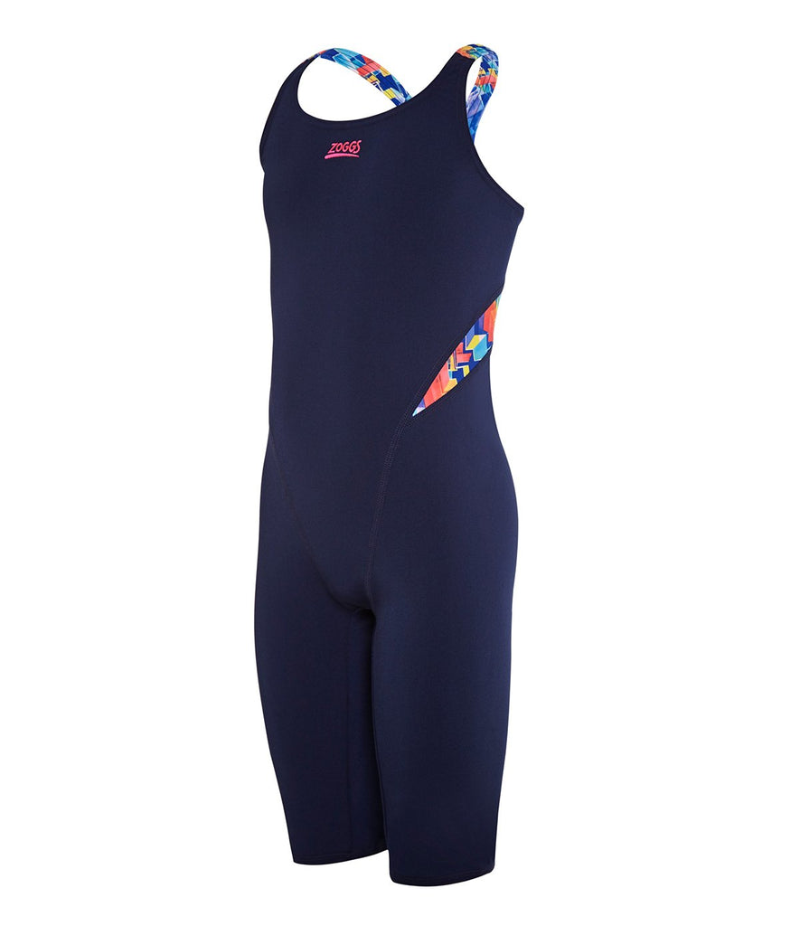 ZOGGS | GIRLS DIGITAL GEO LEGSUIT NAVY/MULTI