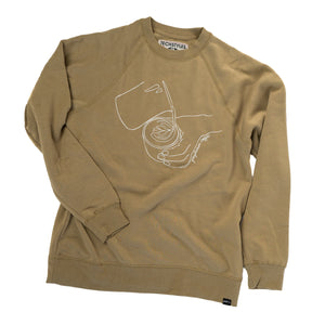 Latte Art Crew neck sweatshirt