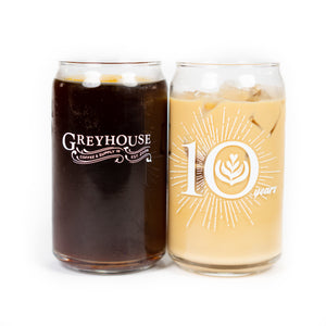 Greyhouse 10 Year Anniversary Glass (12 oz)
