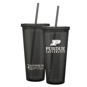 Purdue™ - Greyhouse 20 oz cup with Straw