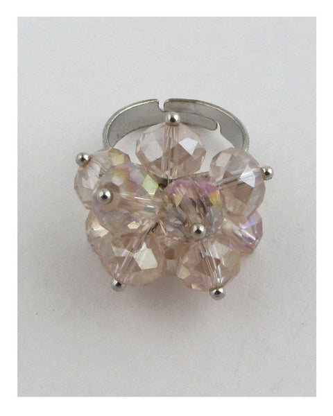 Adjustable crystal ring