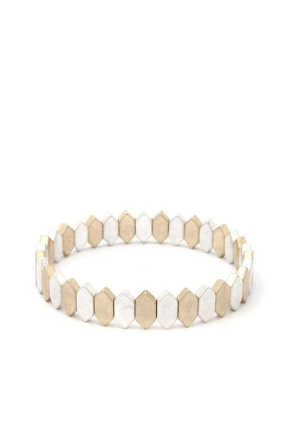 Pointed Oval Stretch Bracelet