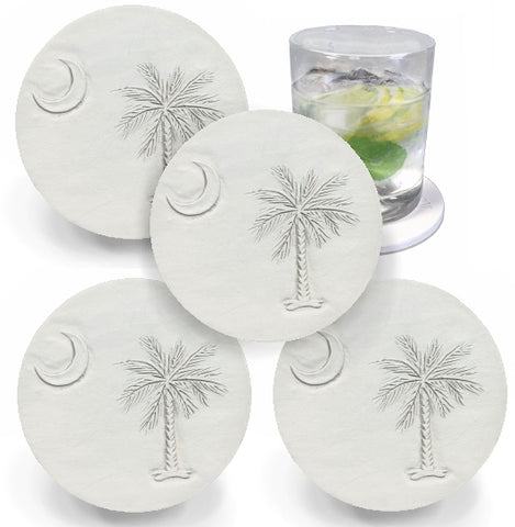 Palmetto And Moon Drink Coasters