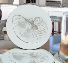 Load image into Gallery viewer, Nautilus Shell Drink Coasters
