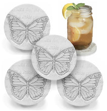 Load image into Gallery viewer, Butterfly Drink Coasters