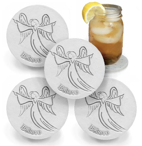 Believe Angel Drink Coasters