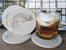 Load image into Gallery viewer, Bass Fish Drink Coasters