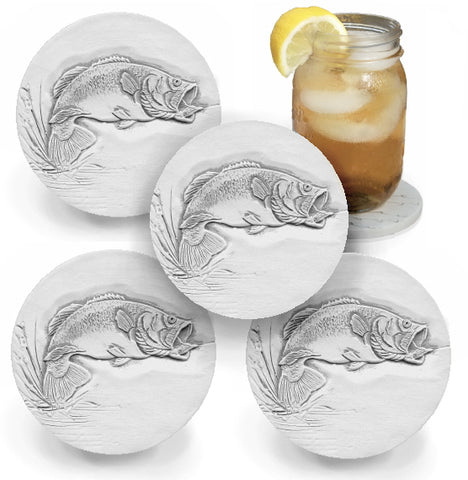 Bass Fish Drink Coasters