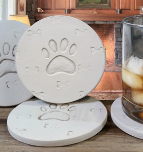 Dog Paw Drink Coasters