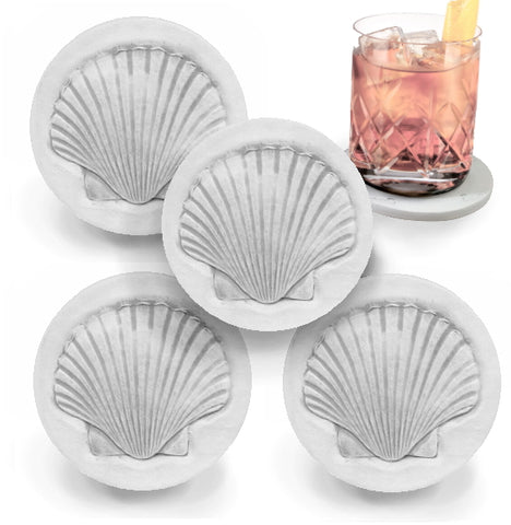 Scallop Shell Drink Coasters