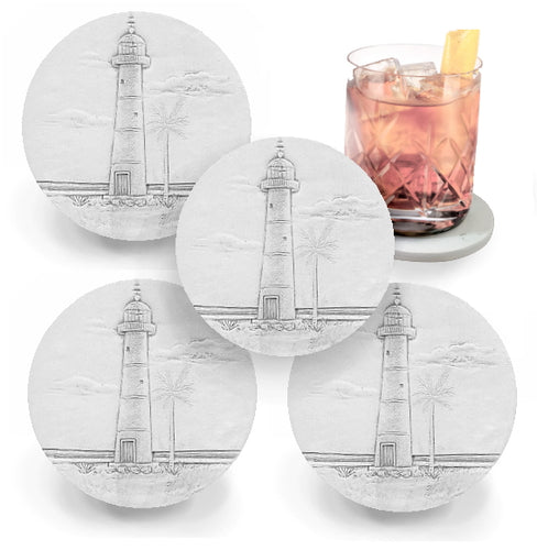 Lighthouse Drink Coasters