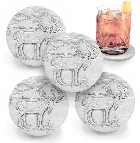Moose Drink Coasters