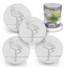 Load image into Gallery viewer, Flamingo Drink Coasters