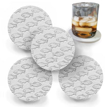 Load image into Gallery viewer, Fish School Drink Coasters