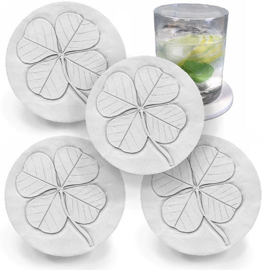 Four Leaf Clover Drink Coasters