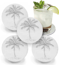 Load image into Gallery viewer, Palm Tree Drink Coasters