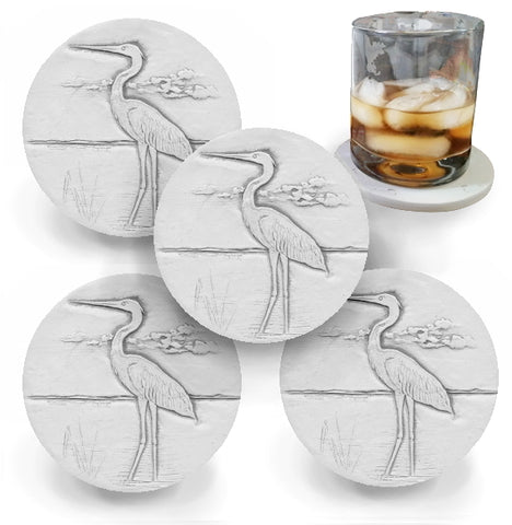 Heron Drink Coasters