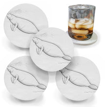 Load image into Gallery viewer, Manatee Drink Coasters