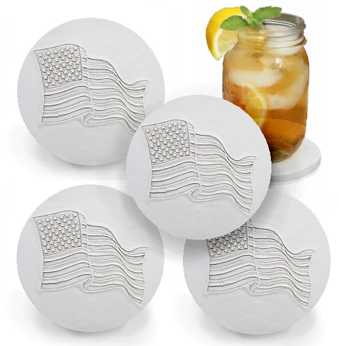 American Flag Drink Coasters