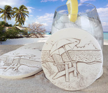 Load image into Gallery viewer, Beach Chair Drink Coasters