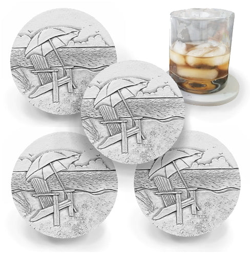 Beach Chair Drink Coasters