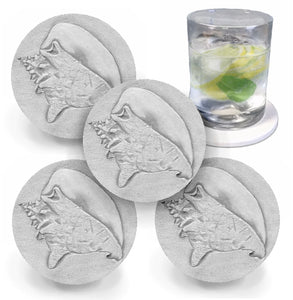 Conch Shell Drink Coasters