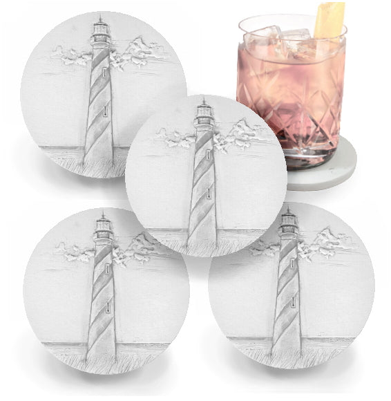 Spiral Lighthouse Drink Coasters