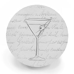 Martini Glass Drink Coasters