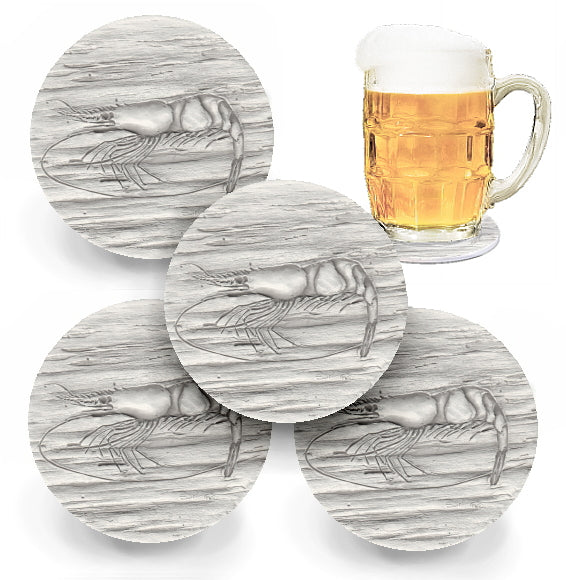 Shrimp Drink Coasters