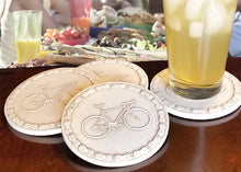 Load image into Gallery viewer, Bicycle Drink Coasters