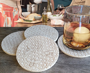 Bee Honeycomb  Drink Coasters