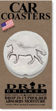 Walking Horse Car Coasters