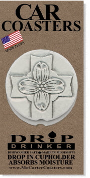 Dogwood Cross Car Coasters