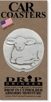 Lamb Car Coasters