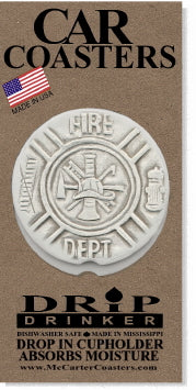 Fire Department Car Coasters