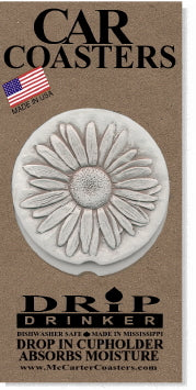 Daisy Car Coasters