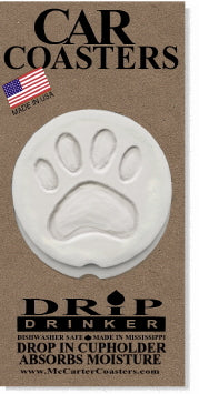 Dog Paw Car Coasters