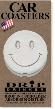 Smiley Car Coasters