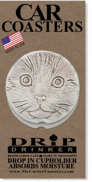 Cat Face Car Coasters