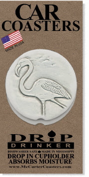 Flamingo Car Coasters