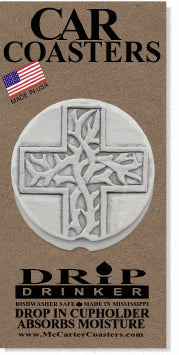 Thorn Cross Car Coasters