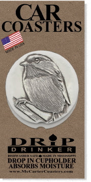 Chickadee Car Coasters